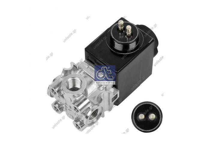 1.13078 DT Μαγνητική βαλβίδα (ΚΩΔΙΚΟΙ OEM: 303 470)   Solenoid valve replaces IMI Norgren: 0675225  Art. No. 1.13078  SCANIA 303 470 Solenoid Valve WABCO 472 090 102 0 (4720901020), Solenoid Valve DT 1.13070 (113070), Solenoid Valve