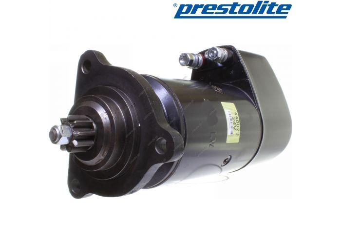 0001416002  Prestolite original starter 5,4kW MAN SÜ DFAS tipper semitrailer flatbed diesel   Voltage [V]: 24 Power [kW]: 6.6 Number of teeth: 9 Number of fixing holes: 3 Number of tapped holes: --- Flange-Ø [mm]: ---