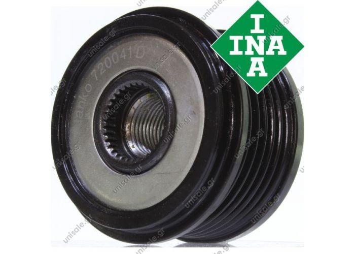 Original INA freewheel pulley Citroen Xantia C8 C5 2.0 2.2 Hdi 109  Overrunning alternator pulley Pulley Ø [mm]: 59,1 mm Number of ribs: 6 Depth: 35.6 mm I  535005910 535K005101 F23236902 F23236904 F23236905 F23236907 F2323692 F2323694 F23977901