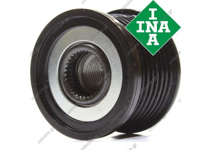 Original INA freewheel pulley Mercedes E class W211 E 400 Cdi  720060 F00M349826 F00M391110 F00M991157 FOOM349826 FOOM391110 FOOM991157 F23612701 F23612702 F23612703 6281500060