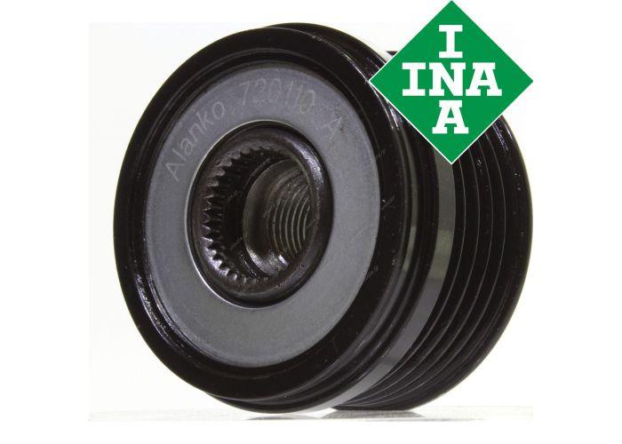Original INA freewheel pulley Opel Astra G Cc 1.4 1.6 1.8 2.0 720110 F00M991076 F00M991128 FOOM991076 FOOM991128 1204376 9195337 93170214 20504550 5455