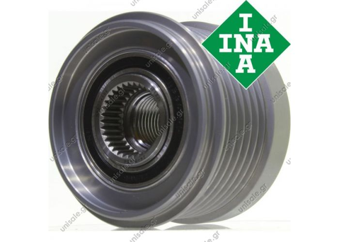 Original INA freewheel pulley Dacia Logan 1.4 1.6 720128 535011710 7700110616