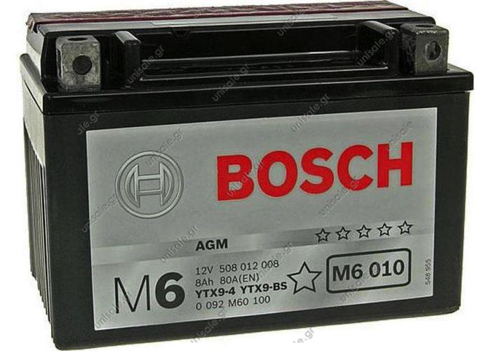 Μπαταρία Moto M6 Bosch 0092M6010 12V   Bosch M6010 8Ah 80EN
