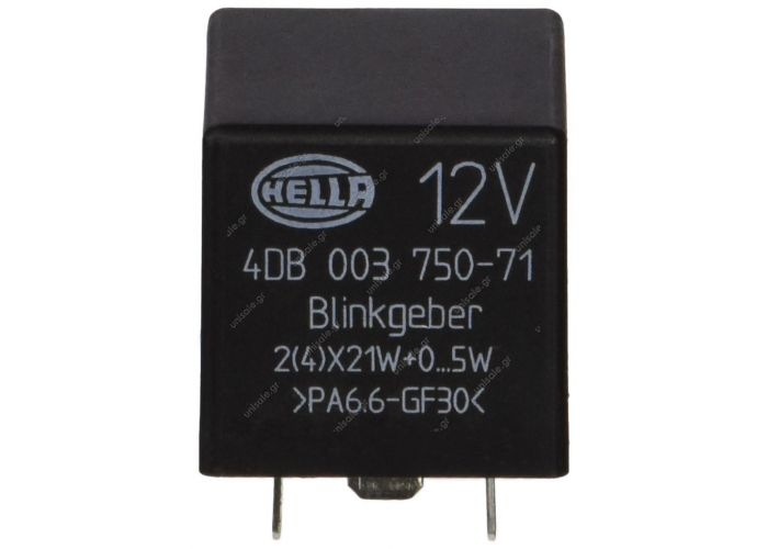 4DB003750-711 – HELLA, Φλασέρ 12V 3 φις γερμανικού τύπου