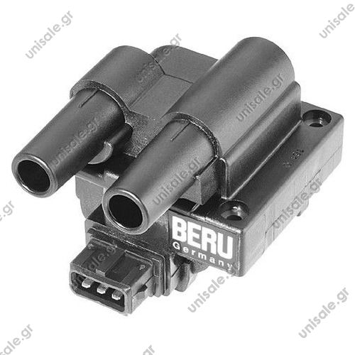 ZS242 BERU Πολλαπλασιαστής 3πόλων   ZS242 Coil, ignition, to cylinder 1 to cylinder 4 for Renault Clio, Kangoo, MeganeΠΟΛΛΑΠΛΑΣΙΑΣΤΗΣ RENAULT