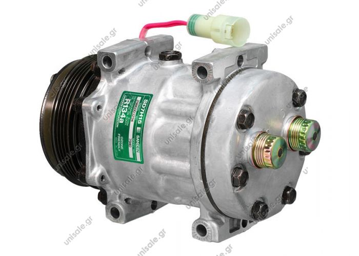 ΣΥΜΠΙΕΣΤΗΣ ΚΟΜΠΡΕΣΕΡ SANDEN  -SD7Η15 LAND ROVER : BTR8505   58841 (57841) COMPRESSOR NEW BRAND - LAND ROVER DEFENDER MODEL-(2.5 90 TDI) DIAMETER WHEELS - 112MM NUMBER PK - 4 COMPRESSOR SANDEN 7H15-