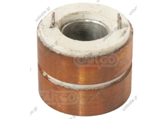 6220104 CAV  ΣΥΛΛΕΚΤΗΣ ΑΛΤΕΝΕΙΤΟΡ  CAV AC5 d31.5mm  131054 - Slip Ring   ALTERNATOR REPAIR PARTS   FOR  C.A.V.  ALTERNATORS  AC5/203 SERIES 12 & 24 VOLT    BRUSH BOX     HAS THREE 6.3MM  LUCAR SPADE TERMINALS AT BACK     BRUSH BOX