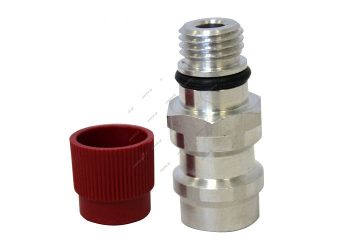 82357 GM HIGH FLOW ADAPTER W/VALVE CORE & SERVICE PORT CAPS