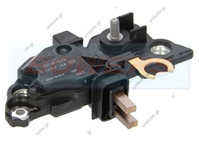 MOBILETRON	VR-B264 ΑΥΤΟΜΑΤΟΣ ΑΛΤΕΝΕΙΤΟΡ   F00M144139 BOSCH  12V Bosch Product Type:	Regulator Product Application:	Mercedes / Ssangyong Replacing F00M145248 F00M145358 Cargo 233729 Woods VRG46428 Bosch Transpo Mercedes Type