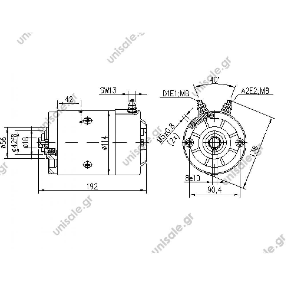 direct current motor mahle mm62 im0029 oil sistem  2 2 kw