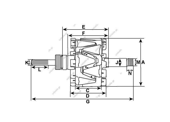 239622 - Rotor CARGO ΜΠΟΜΠΙΝΑ VALEO  Replacing 593567 VALEO