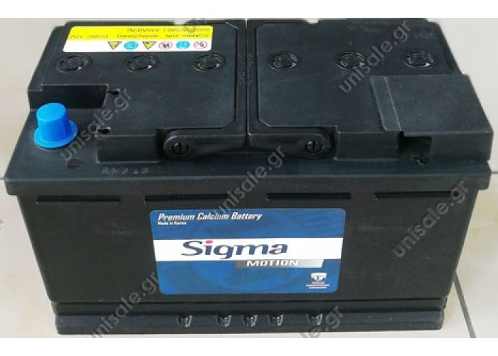 SIGMA ΜΠΑΤΑΡΙΑ 12V 80A 800A ΔΕΞΙΑ
