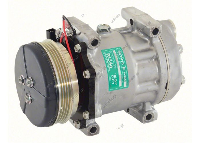 8147  SANDEN  ΣΥΜΠΙΕΣΤΗΣ MASSEY FERGUSON SD7H15 112PV4 12V   COMPRESSOR, SANDEN, 8147-7H15 12V 119MM 4-V, R134A DIRECT MOUNT, REAR PAD