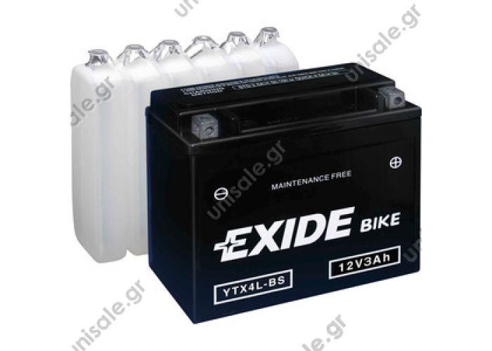 EXIDE MC MAINTENANCE FREE BATTERY YTX4L-BS (3 А/ч)