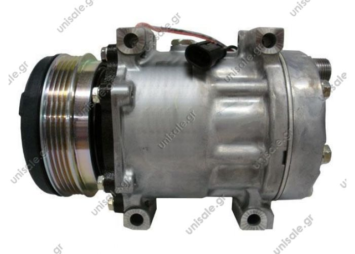 8279  6092  ΣΥΜΠΙΕΣΤΗΣ NEW HOLLAND SD7H15 112PV4 H-OR 12V    COMPRESSOR SANDEN FIX R134A SD7H15   COMP SD7H15 PV4 12V DM OEM CODE (Manufacturer references)  CASE : 87519620 NEW HOLLAND : 87519620