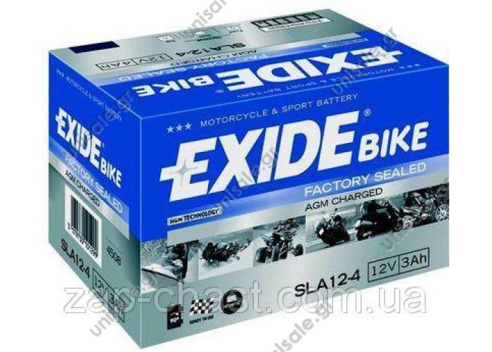 EXIDE MC FACTORY SEALED AGM CHARGED  AGM 3Ah 50A EXIDE SLA12-4 = AGM12-4