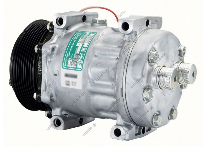 40405099CP  ΣΥΜΠΙΕΣΤΗΣ IVECO Tector COMPRESSOR, SANDEN SD7H15 8124A, 12V 119MM 8PV R134A REAR TUBE-O, DIRECT MOUNT, STEEL ARMATURE NCSU