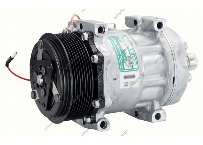40405099  ΣΥΜΠΙΕΣΤΗΣ  IVECO Tector COMPRESSOR, SANDEN SD7H15 8124A, 12V 119MM 8PV R134A REAR TUBE-O, DIRECT MOUNT, STEEL ARMATURE NCSU
