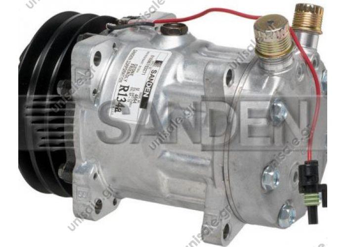 4663  ΣΥΜΠΙΕΣΤΗΣ SANDEN SD7H15 132A2  12V V-OR  NEW Original Sanden Compressor 4663 (1101232) COMPRESSOR - SANDEN 4627, 4663, 9515   Sanden Model/s #: 4446, 4663, 7409, 7621, 102304, 194663, 7419, 1027U2
