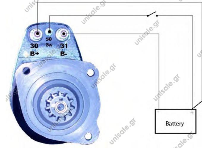 ΜΙΖΑ MAN 24V 6.6 KW 9T   NÜ NÜ 353 15M  Bosch starter 0001417037 / 0 001 417 037 . 860698GB Prestolite starter motor  Part No. : 0001417037 / 0 001 417 037,  2.OEM no.: 51.26201-7139,  3. Model: 24V, 6.6kw, 9T,     4. Application for MAN D2866L engine,