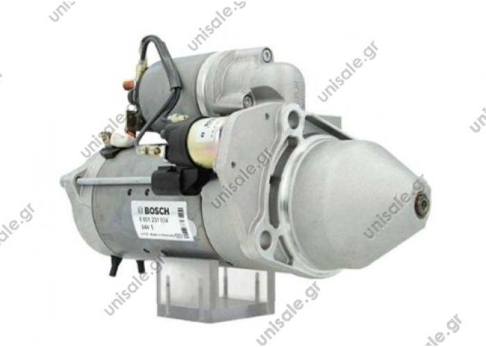 ΜΙΖΑ TEMSA 24V Bosch 0001231034 0001 231 034  Starter  Bosch: 24 V, 4,0 kW  MAN TGL/ TGM truck   0001231034 3.34009 51262017236    OEM Part NumberDAF 0910428; TEMSA 51 26201 7222; MAN 51 26201 7222