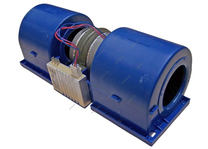 HISPACOLD 5300068   ΜΟΤΕΡ  ΔΙΠΛΟ ΚΟΜΠΛΕ ΜΕ ΠΛΑΚΕΤΑ [ ΜΠΛΕ ] Hispacold double blower with controller   Twin Blower 24v  Double axial motor fan Hispacold OE: 5010531145 - 5300068 - 593111 HISP5300068    Double blower Hispacold Hispacold Double Blower W/S