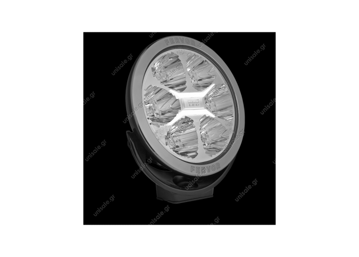 LUM2.51200 ΠΡΟΒΟΛΕΑΣ LED  12V-24V   WESEM FERVOR 180 LED LED driving lamp with chromed frame   driving light with parking light    High Beam FERVOR 086-LUM2.51200 LED 3000lm / LC25 180mm