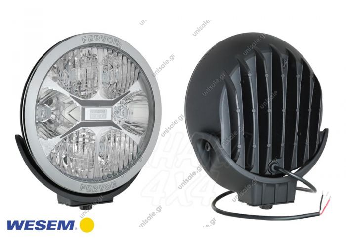 LUM1.50800  ΠΡΟΒΟΛΕΑΣ  LED  WESSEM  12V-24V DC  FERVOR 220 LED driving light with parking light  LED driving lamp with chromed frame