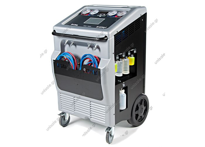 ECK Twin 1234YF and R134a  Ecotechnics ECK Twin 1234YF & R134a Fully automatic Dual-Gas station for recovering, recycling, and recharging R134a and HFO1234yf refrigerants