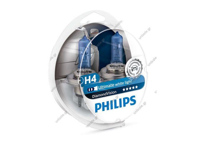 12342DVS2    PHILIPS H4 DIAMOND VISION 5000k      Philips Diamond Vision H4 -5000K Xenon Effect