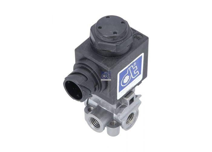 2.255078 DT Μαγνητική βαλβίδα , έλεγχος καυσαερίων   Solenoid valve replaces IMI Norgren: 0675518  Art. No. 2.25508 ReplacesRef. No.PropertiesData Renault74 01 078 318Operating pressure to [bar]max.10 Volvo1078318  M12 x 1,5 Voltage [V] 24