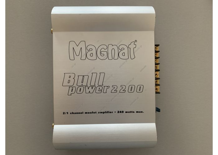 MAGNAT  MAGNAT BULL POWER 2200    ΕΝΙΣΧΥΤΗΣ   2x40/1x125W 40ΗΜ    BULLPOWER2200