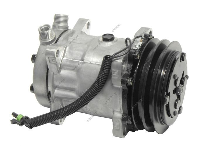 8018 8024 ΚΟΜΠΡΕΣΕΡ  SANDEN SD7H15 132A2 12V V-OR 5800011  NEW Original Sanden Compressor 4664 (1101233)