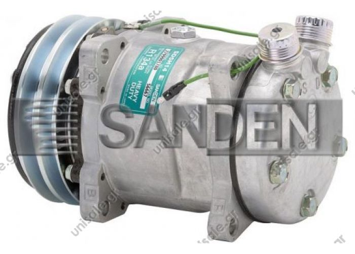 4527, 5334, 6667  SANDEN  ΚΟΜΠΡΕΣΕΡ  SD5H14, 13233, 24V, 2 Grooves     NEW Original Sanden Compressor 6667, 4527, 5334 (1101390)
