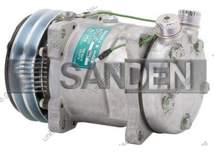 4527, 5334, 6667  SANDEN  ΚΟΜΠΡΕΣΕΡ  SD5H14, 13233, 24V, 2 Grooves     NEW Original Sanden Compressor 6667, 4527, 5334 (1101390)