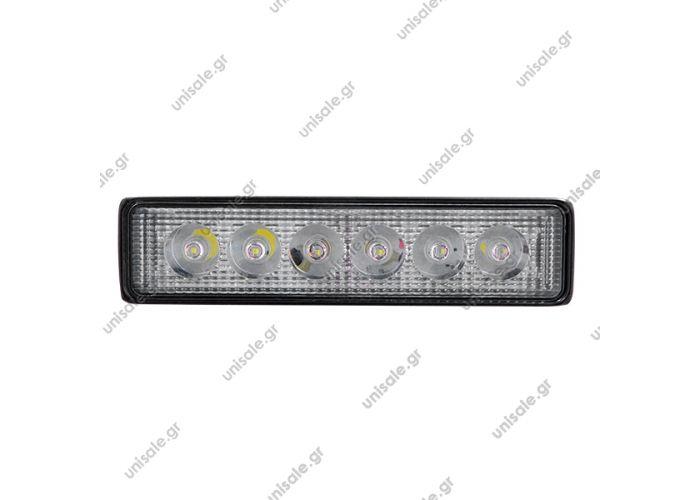 29998 LED ΠΡΟΒΟΛΕΑΣ    18W 10-30V 2520lm 30° Αδιάβροχη IP65 Ψυχρό Λευκό 6000k